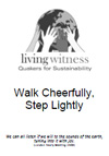 Walk Cheerfully, Step Lightly